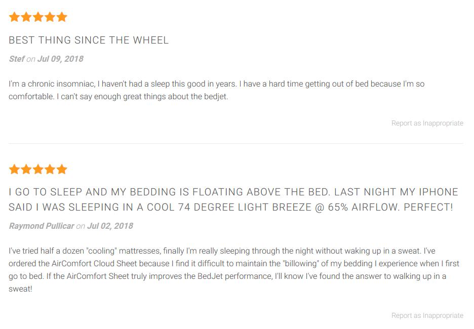 BedJet Consumer Reviews
